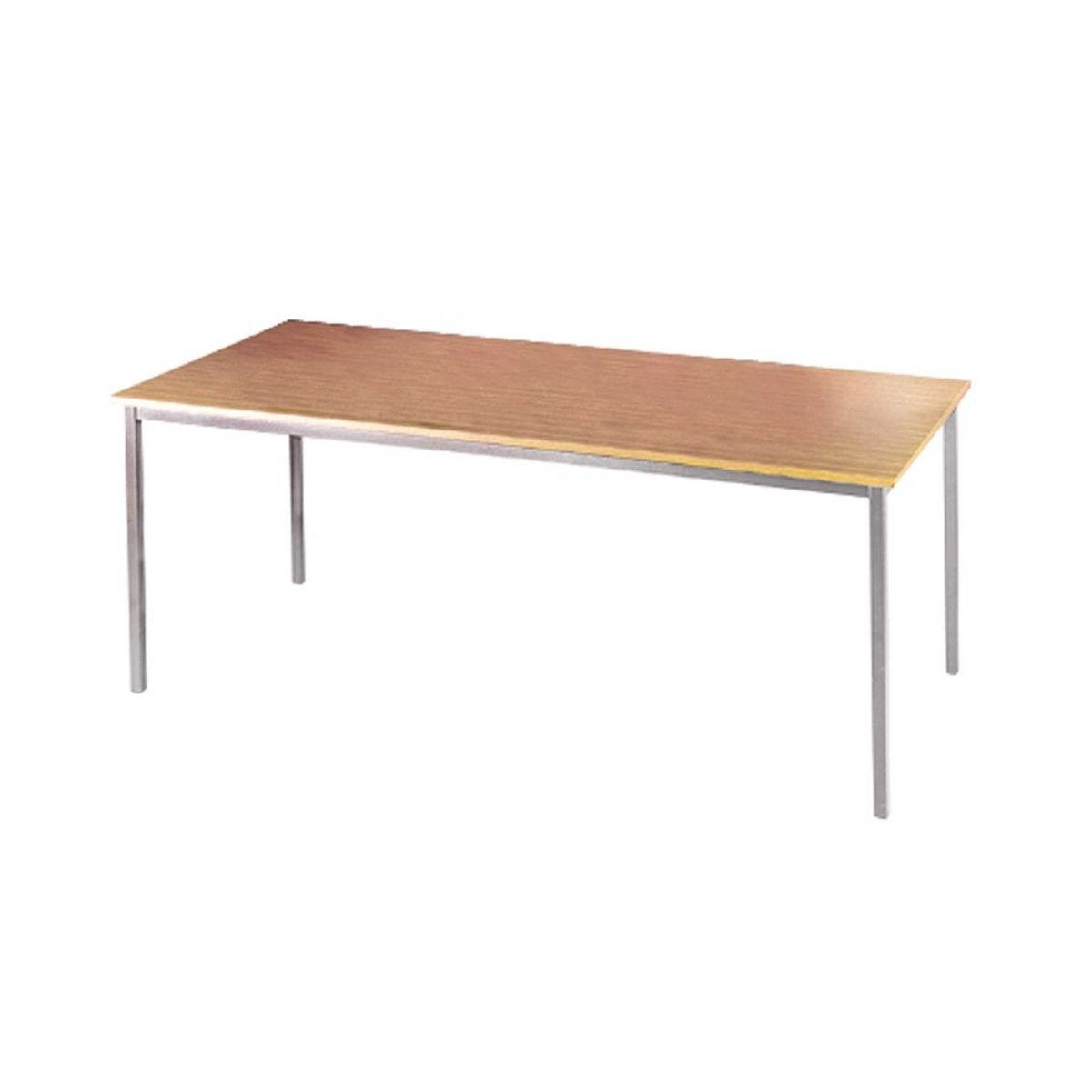 Flexi-table Rectangular Table with Silver Frame 1400mm FLXS14 Beech Effect