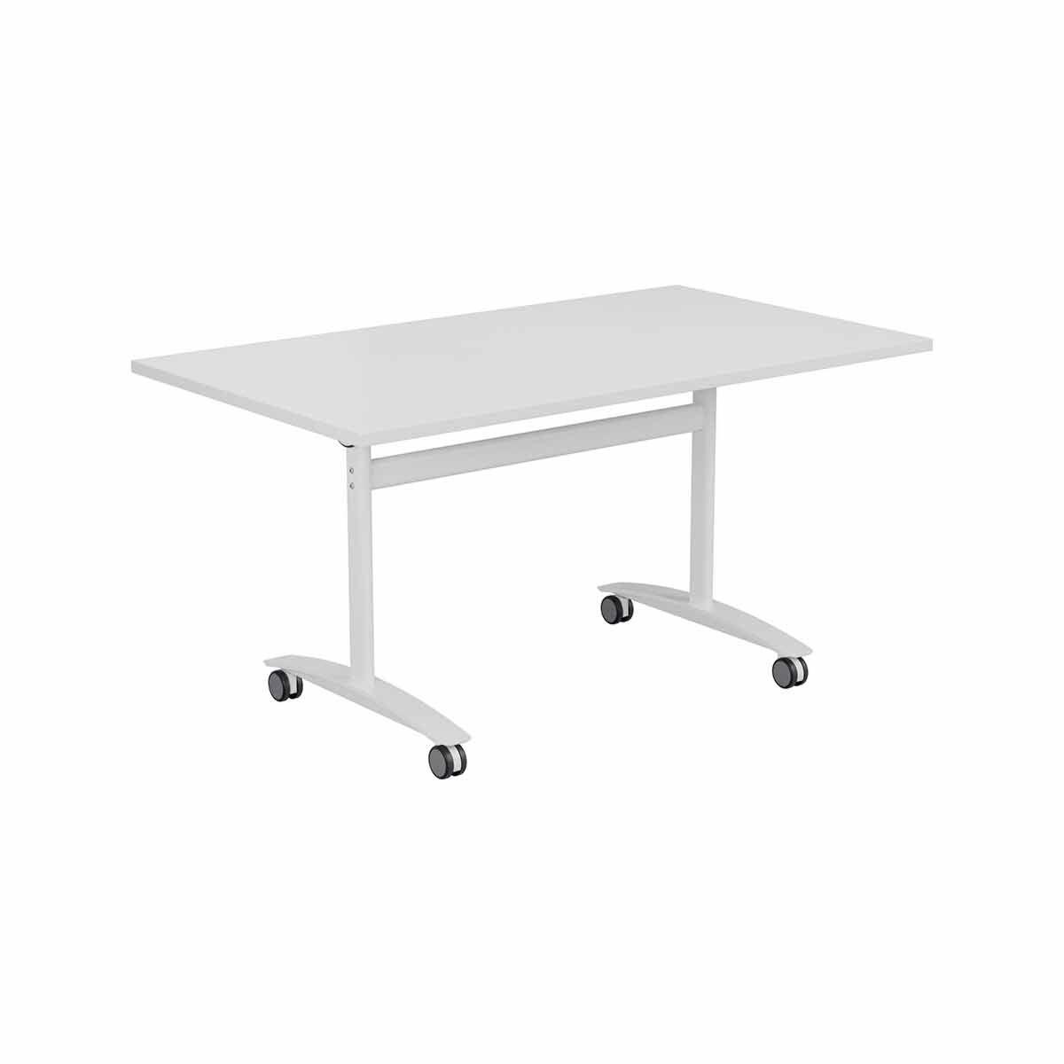 Tabilo Tilt Top Table Frame with White Curved Leg 1600 x 800mm White