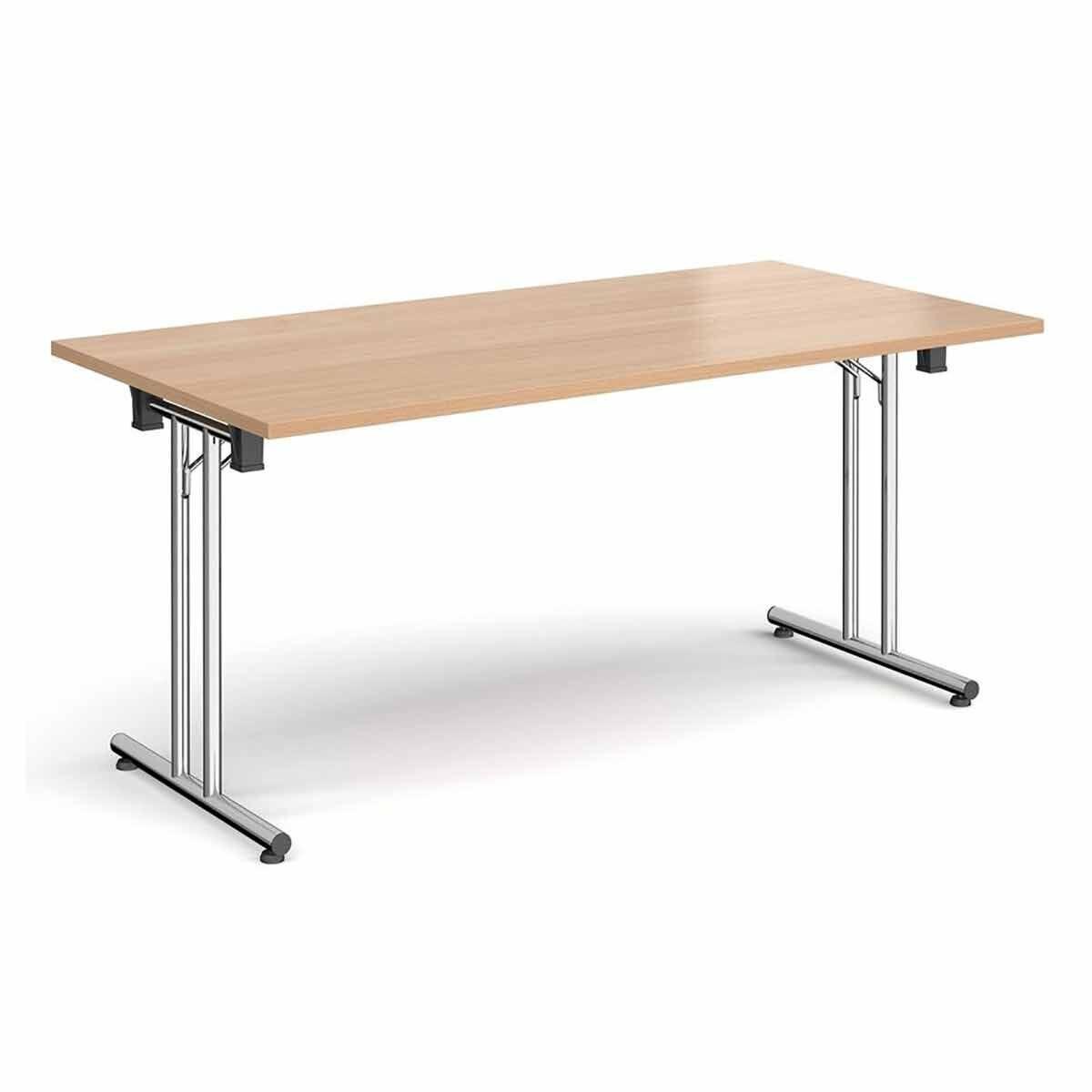 Tabilo Folding Table with Straight Chrome Frame 1200 x 800mm