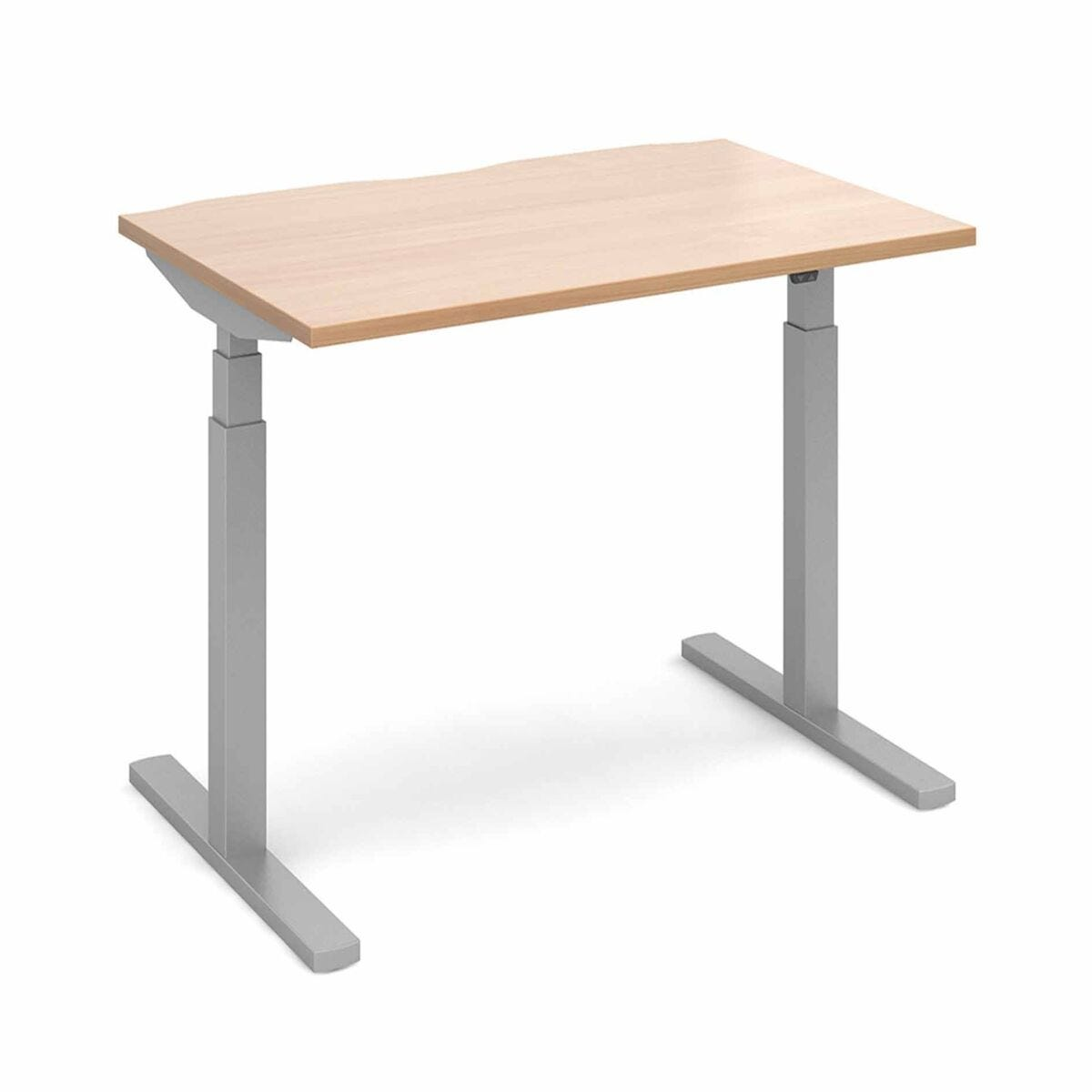 Elev8 Touch Straight Sit-Stand Desk 1200mm x 800mm Silver Frame