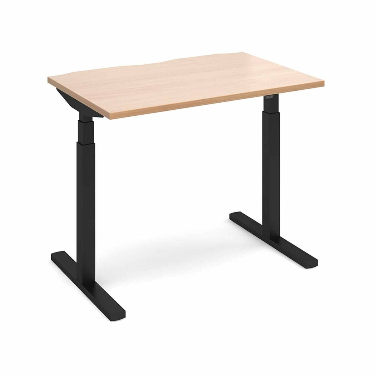 Elev8 Touch Straight Sit-Stand Desk 1200mm x 800m Black Frame