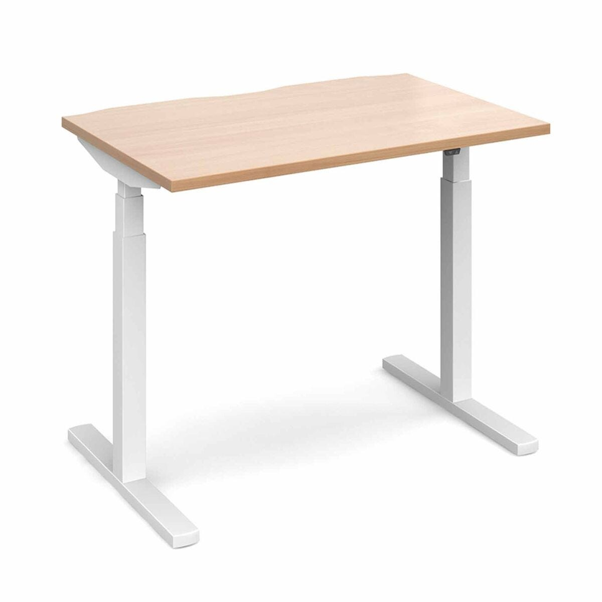 Elev8 Touch Straight Sit-Stand Desk 1200mm x 800mm White Frame