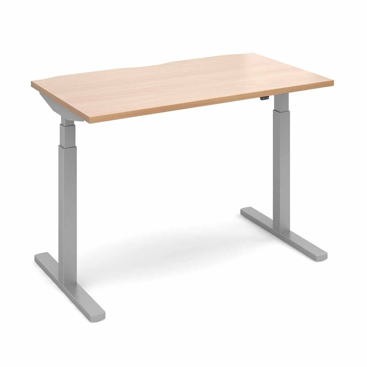 Elev8 Touch Straight Sit-Stand Desk 1400mm x 800mm Silver Frame