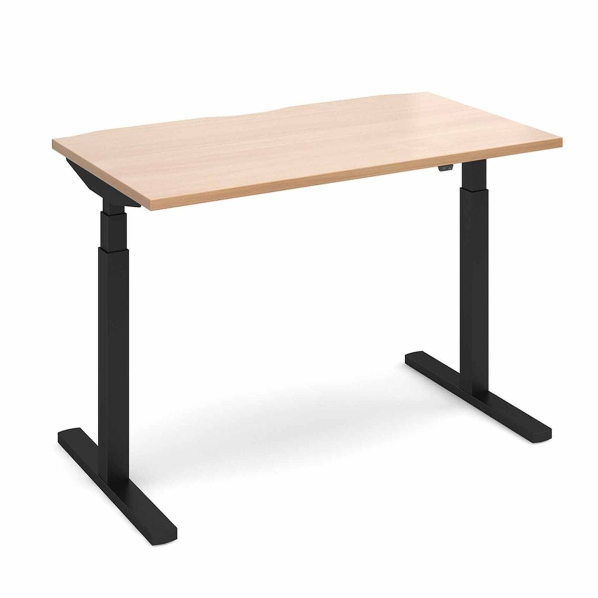 Elev8 Touch Straight Sit-Stand Desk 1400mm x 800mm Black Frame