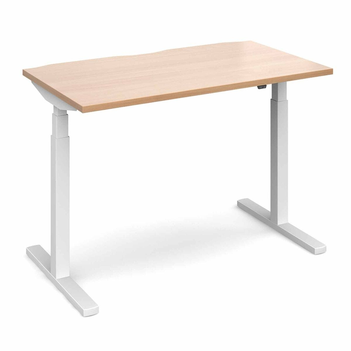 Elev8 Touch Straight Sit-Stand Desk 1400mm x 800mm White Frame