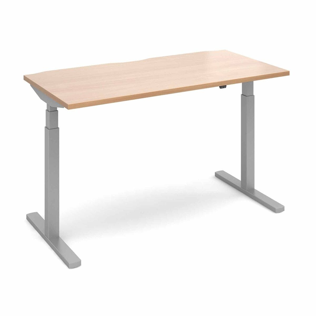 Elev8 Touch Straight Sit-Stand Desk 1600mm x 800mm Silver Frame