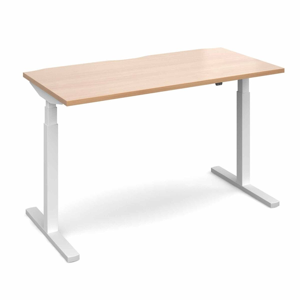 Elev8 Touch Straight Sit-Stand Desk 1600mm x 800mm White Frame