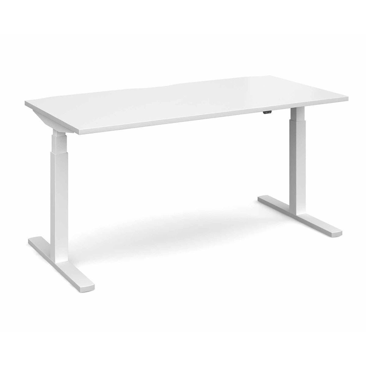 Elev8 Touch Straight Sit-Stand Desk 1600mm x 800mm White Frame White
