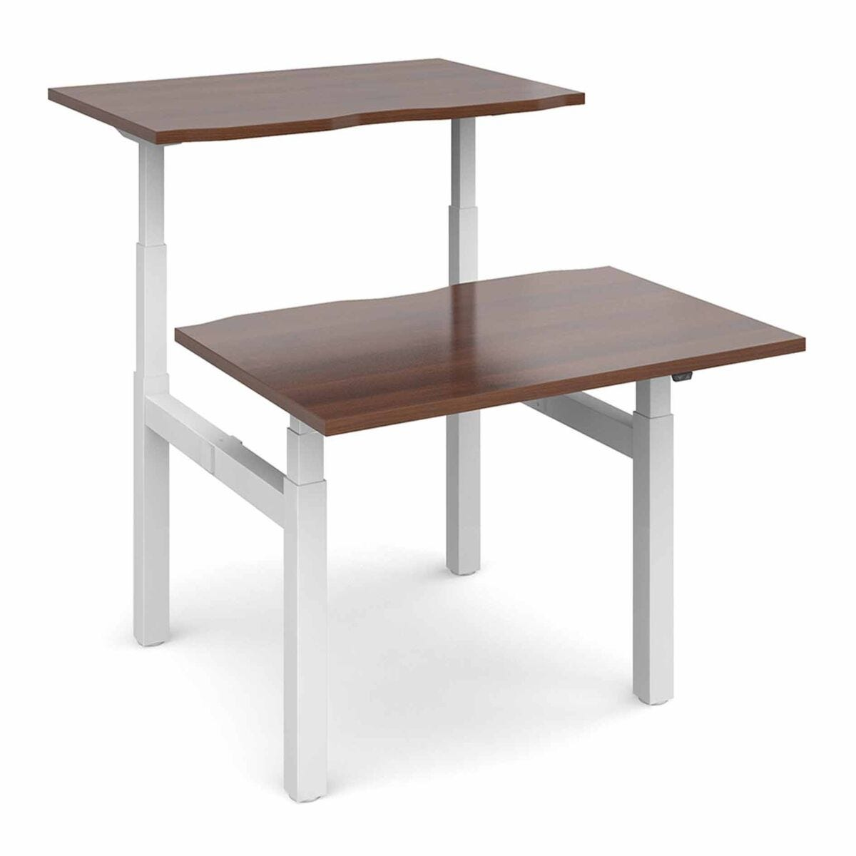Elev8 Touch Sit-Stand Back-to-Back Desks 1200mm x 1650mm White Frame