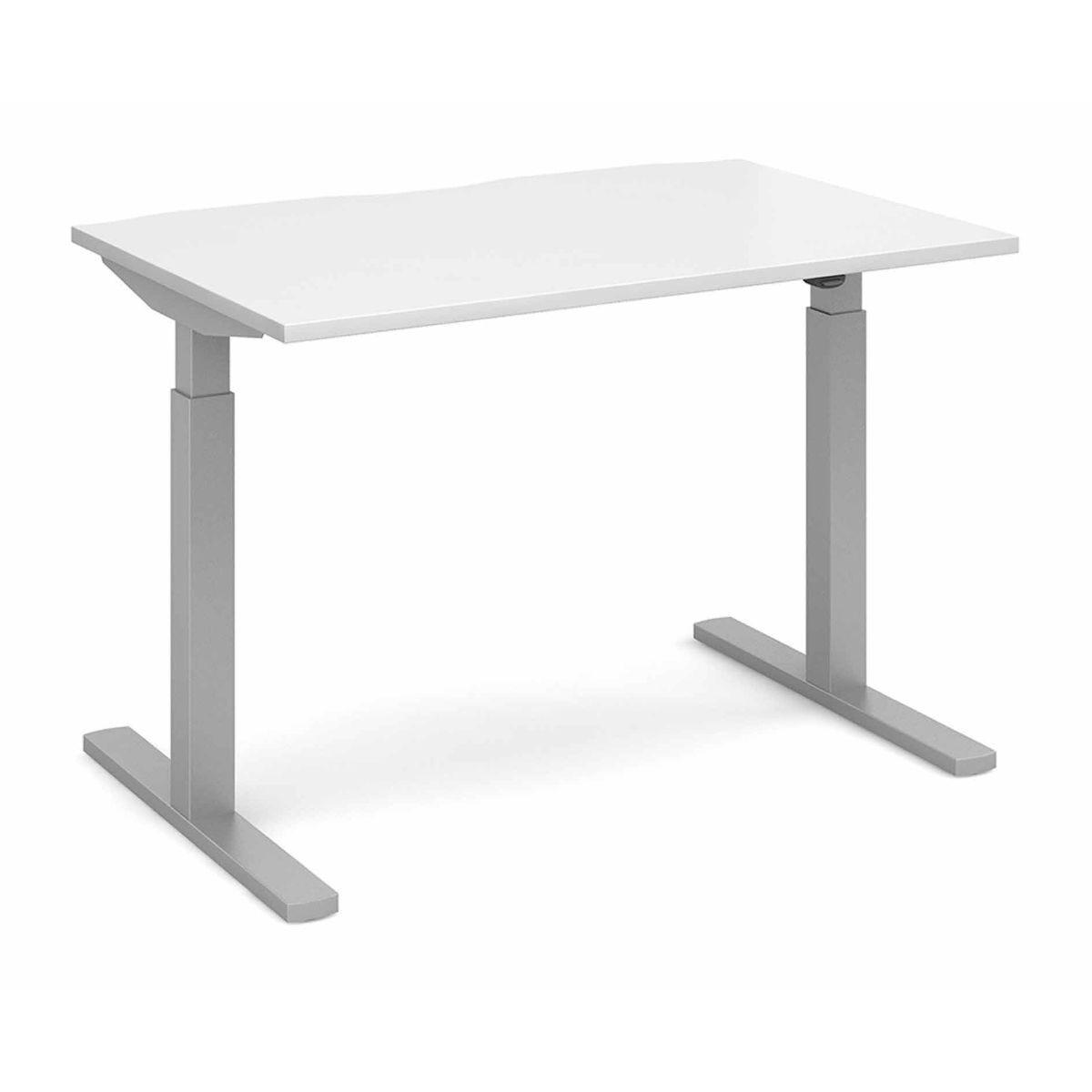 Elev8 Mono Straight Sit Stand Desk 1200mm x 800mm white