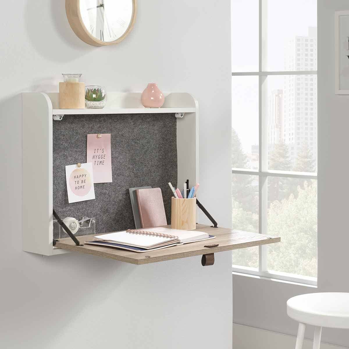Teknik Avon Leather Handled Wall Desk