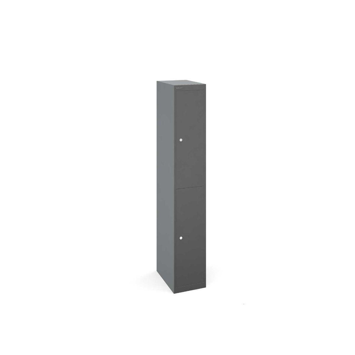 Bisley Universal Steel Locker 2 Door Extra Deep Grey/Grey