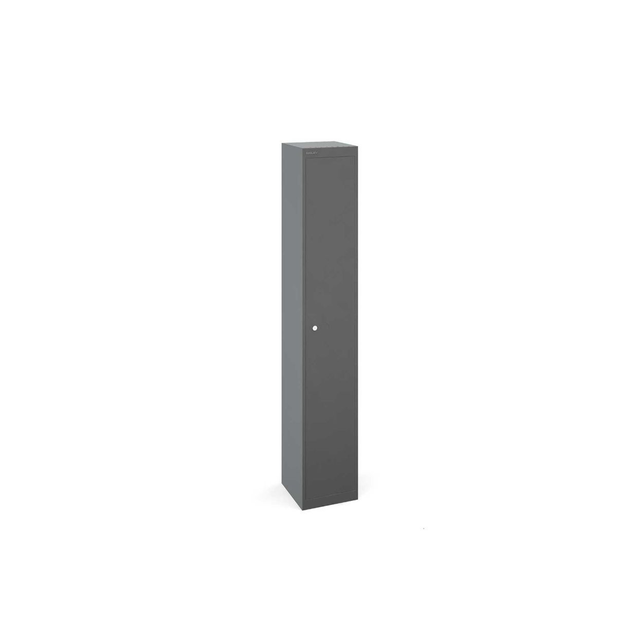 Bisley Universal Steel Locker 1 Door Grey/Grey