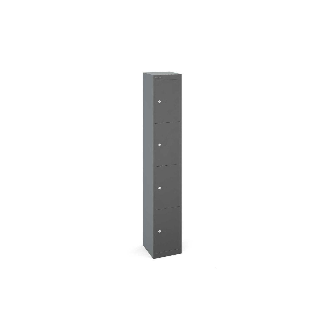 Bisley Universal Steel Locker 4 Door Grey/Grey