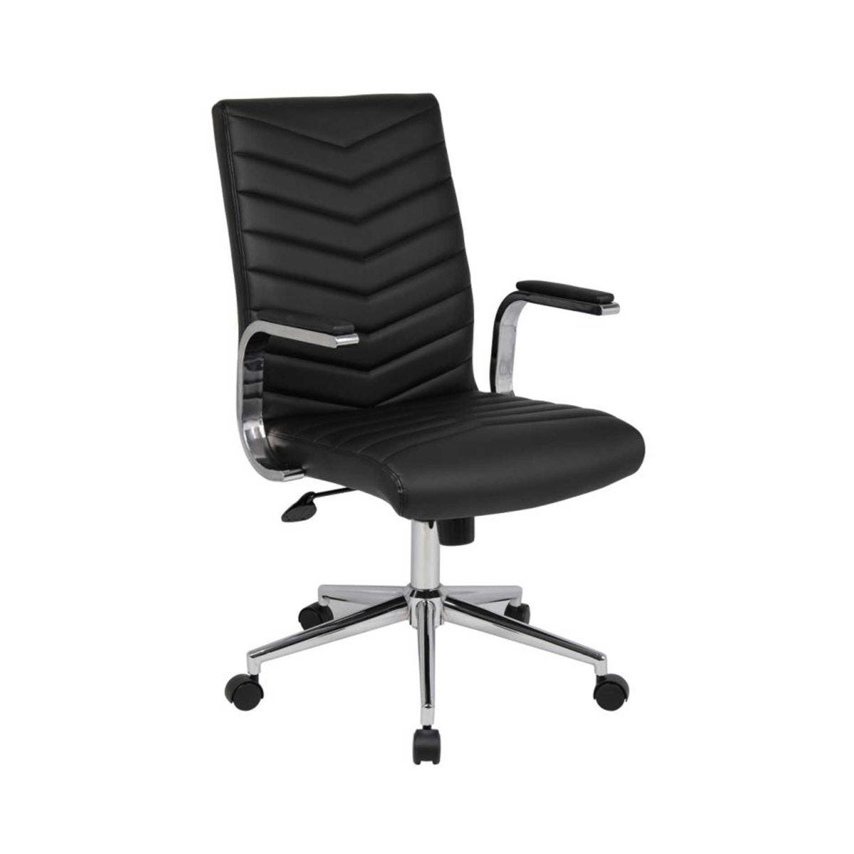 Martinez Leather Faced Executive Contemporary Chair With High Back