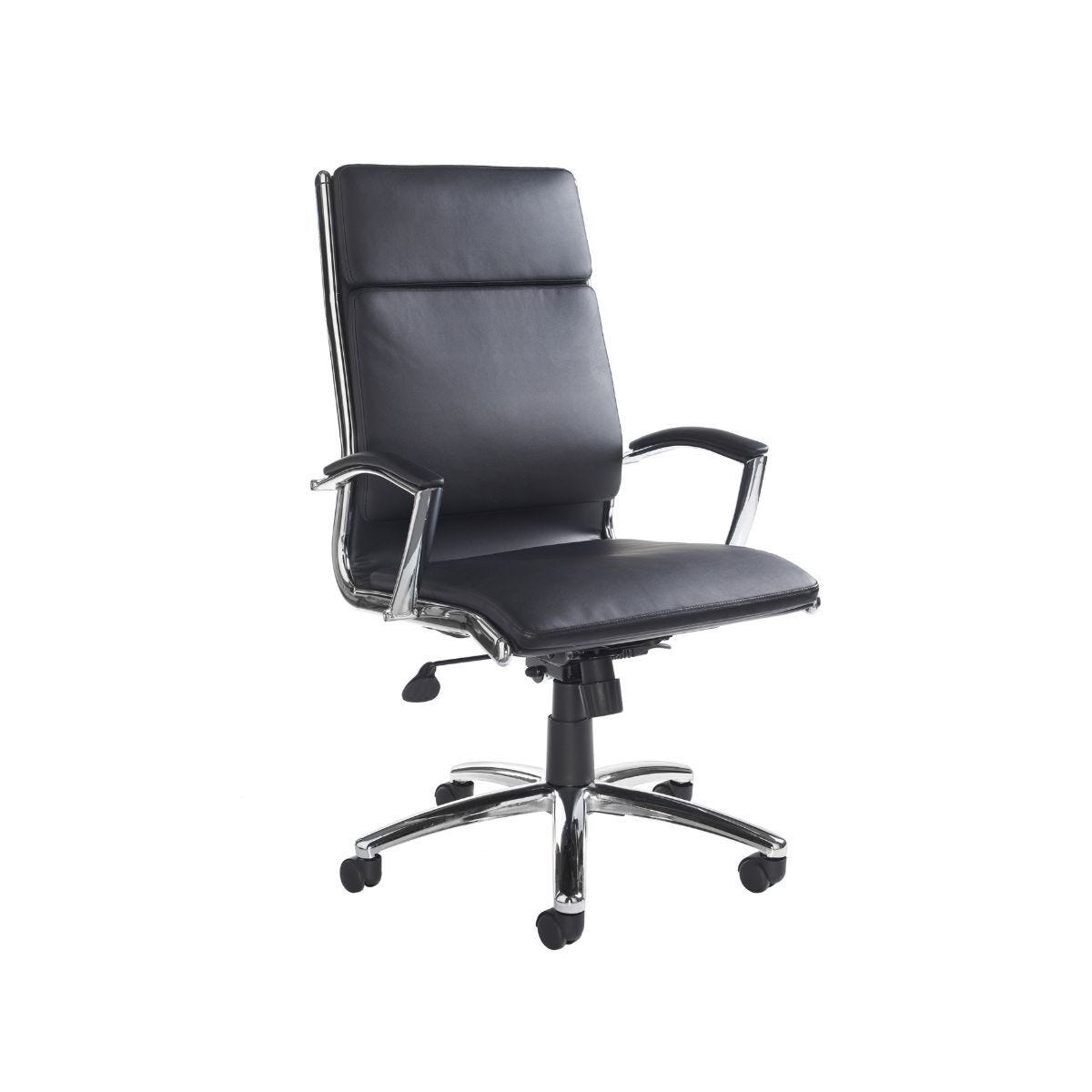 Florence Executive Chair Leather Faced Black