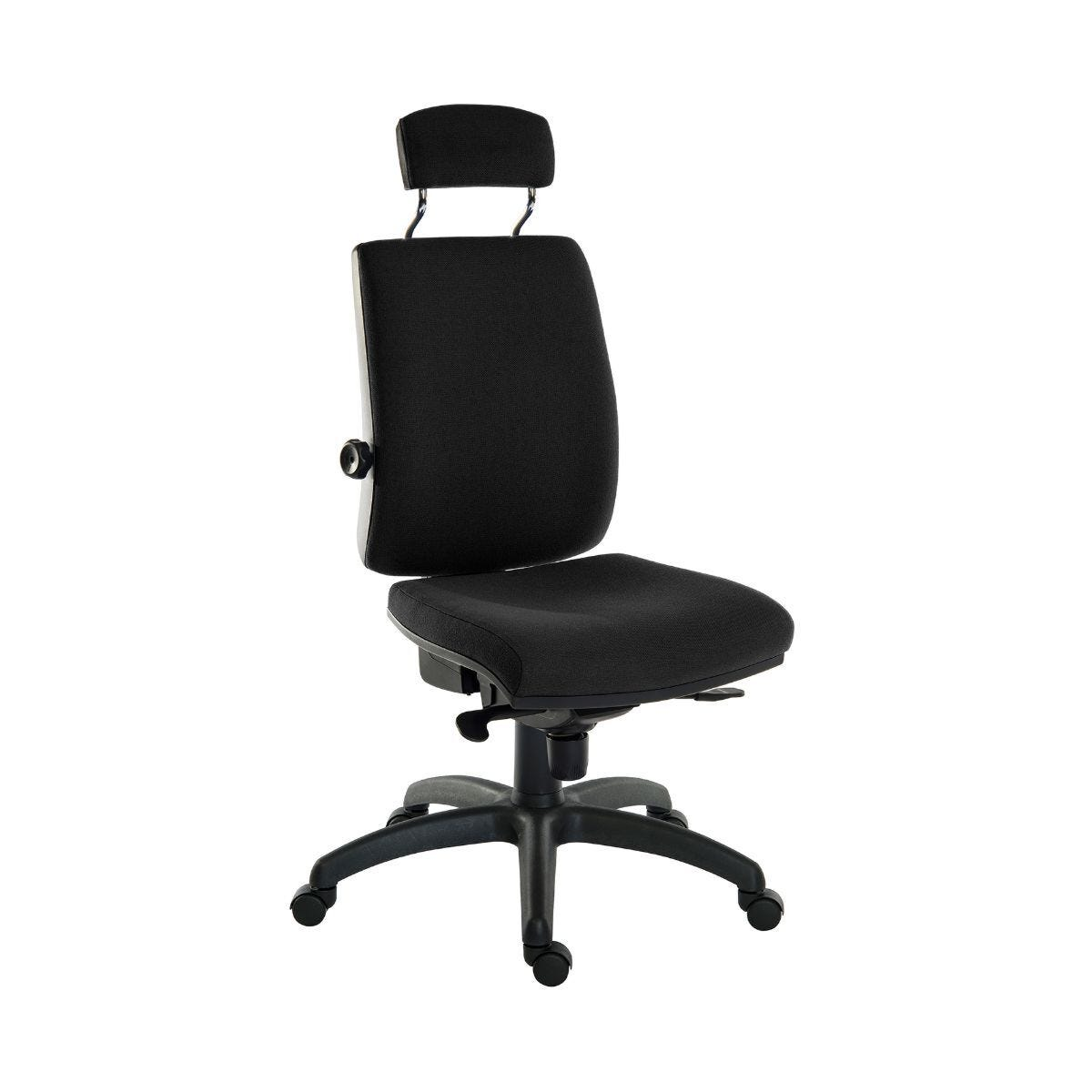 Teknik Office Ergo Plus 24 Hour Ergonomic Executive Operator Chair with Headrest Black