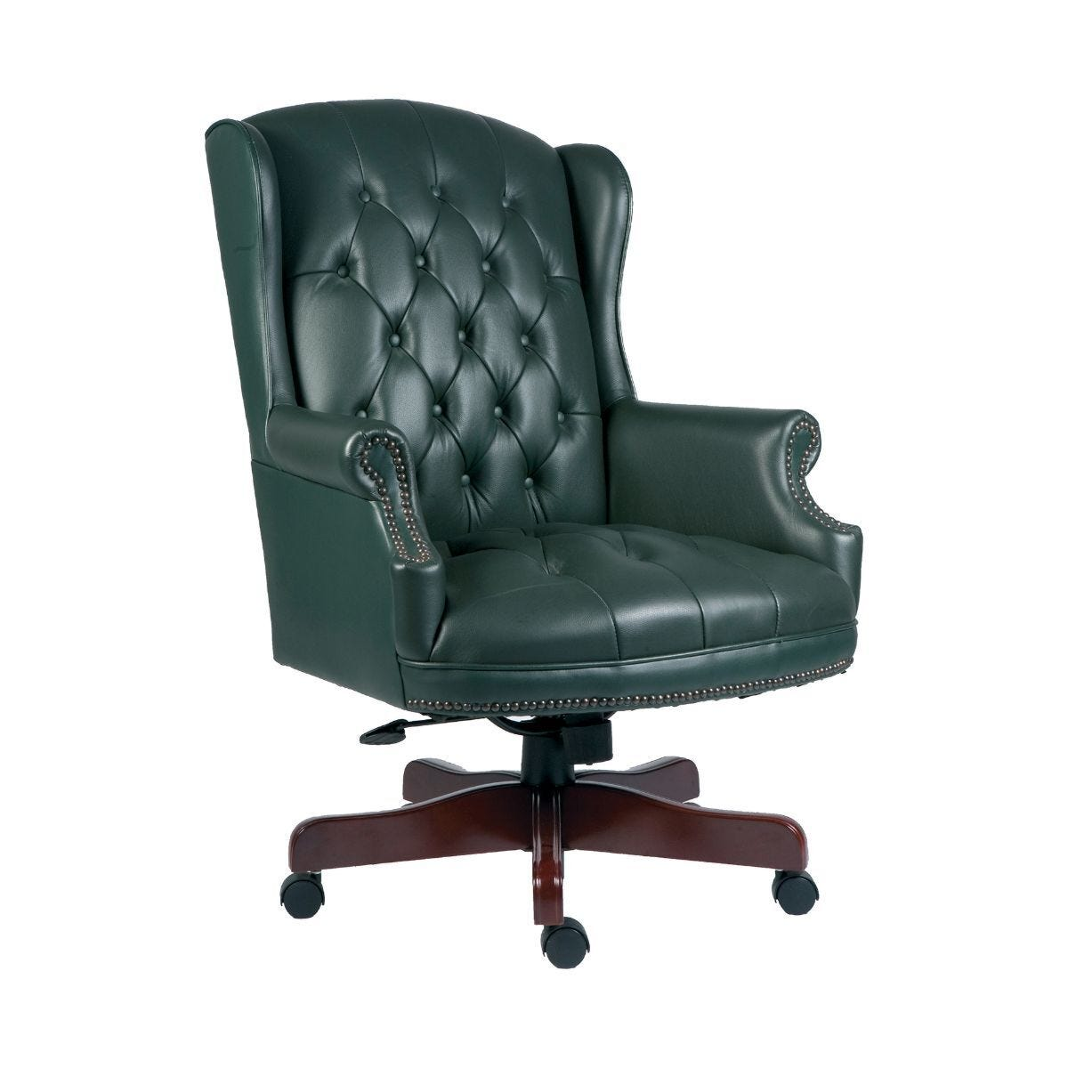 Teknik Office Chairman Swivel Executive Office Chair Green