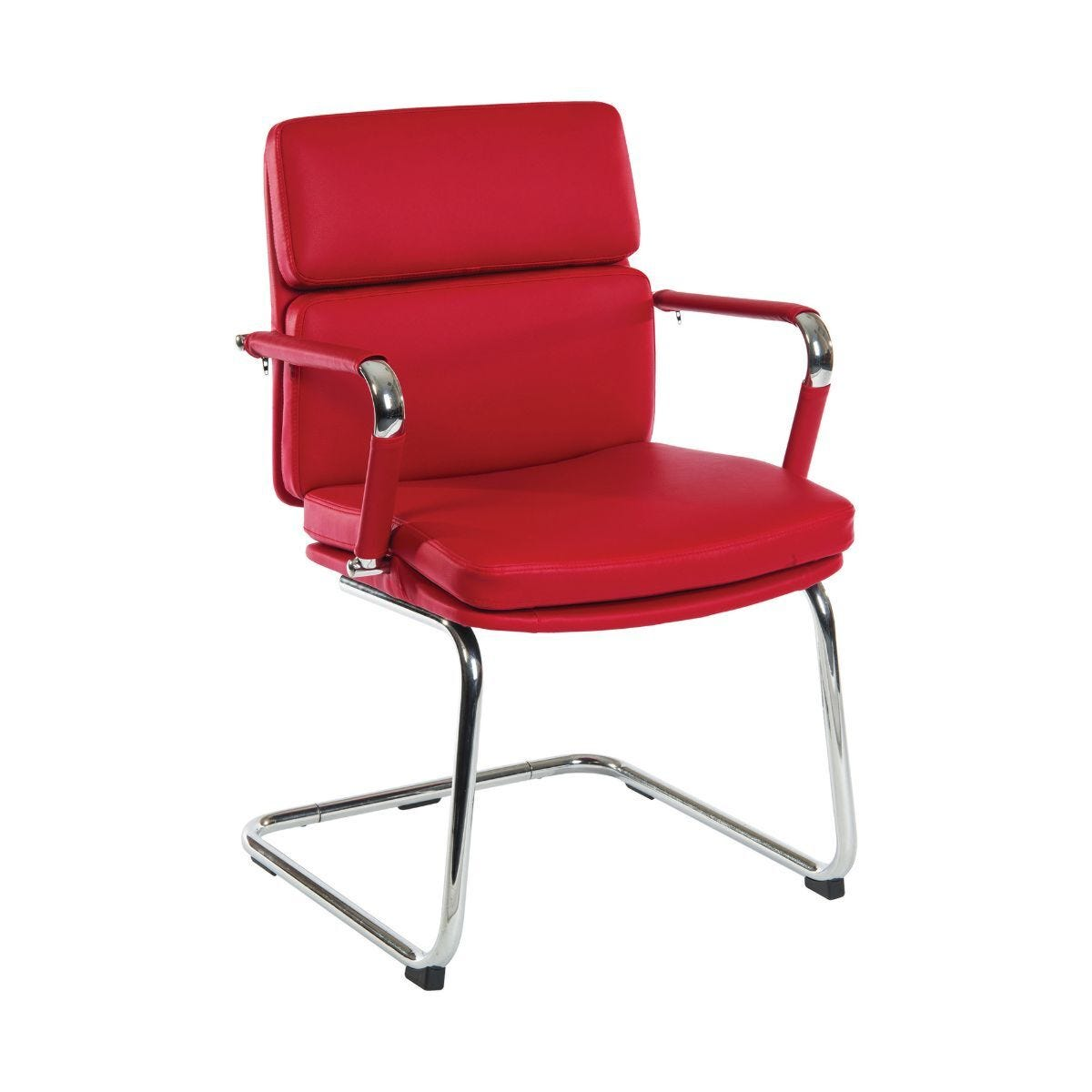 Teknik Office Deco Visitor Retro Style Visitors Chair Red