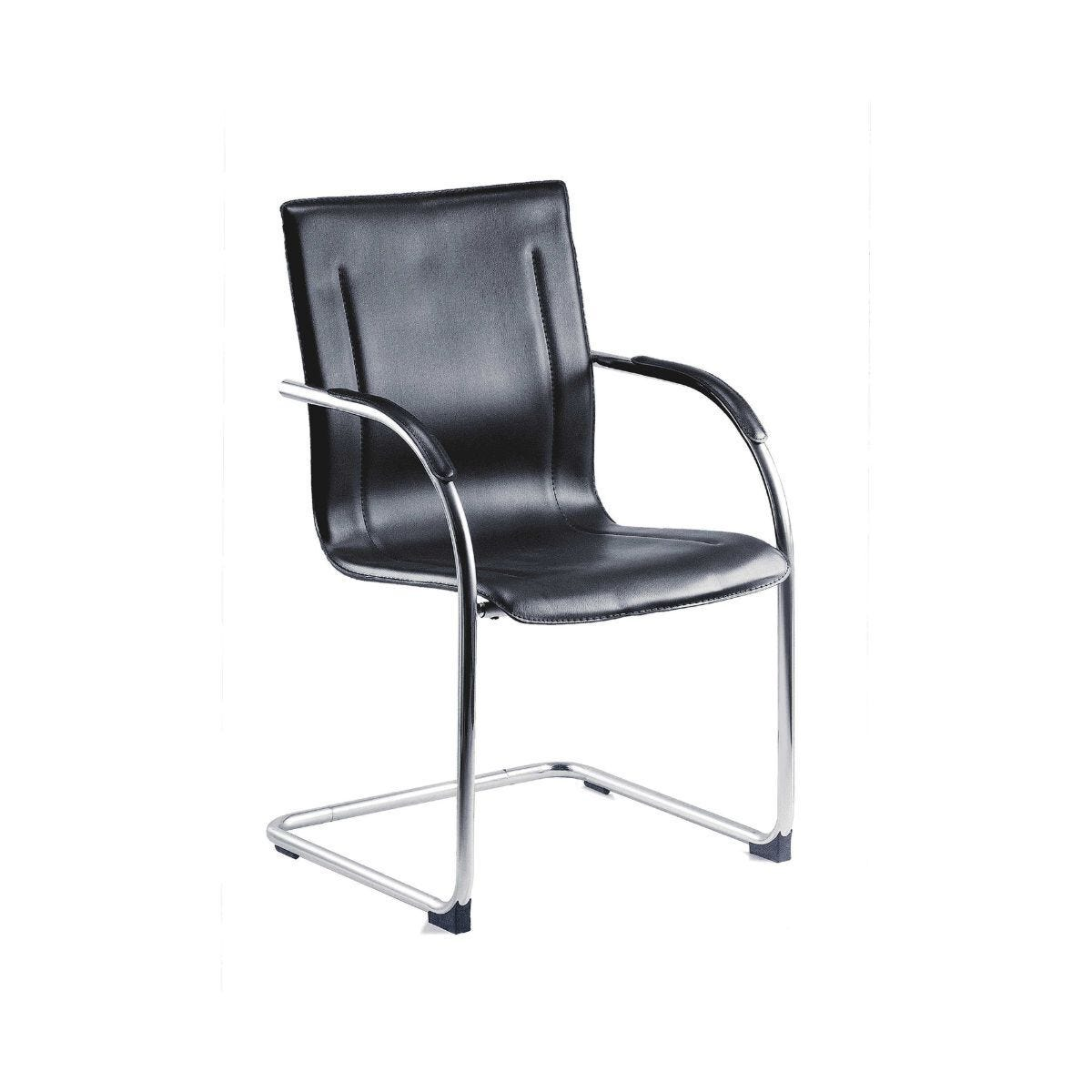 Teknik Office Guest Contemporary Visitor Chair Black Set of 5