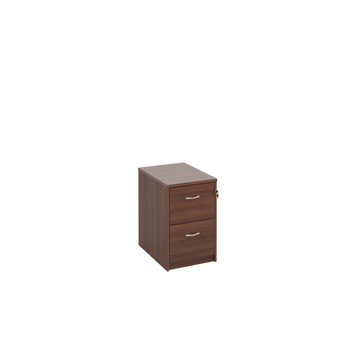 Deluxe Executive Two Drawer Filing Cabinet Walnut