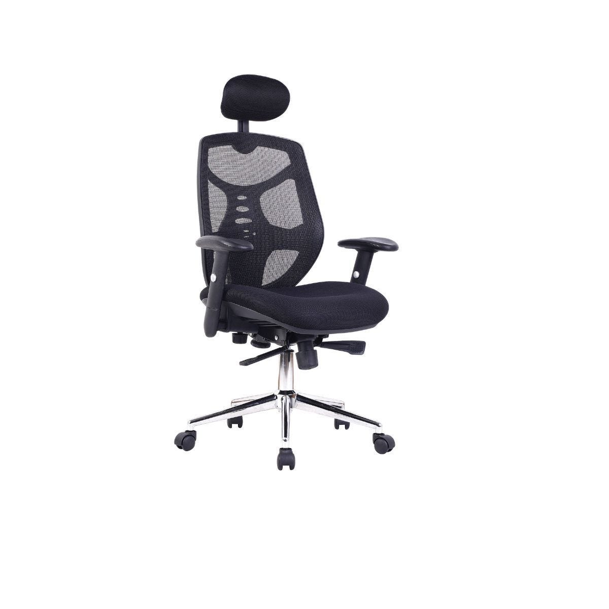 Mesh Back Chair with Adjustable Headrest