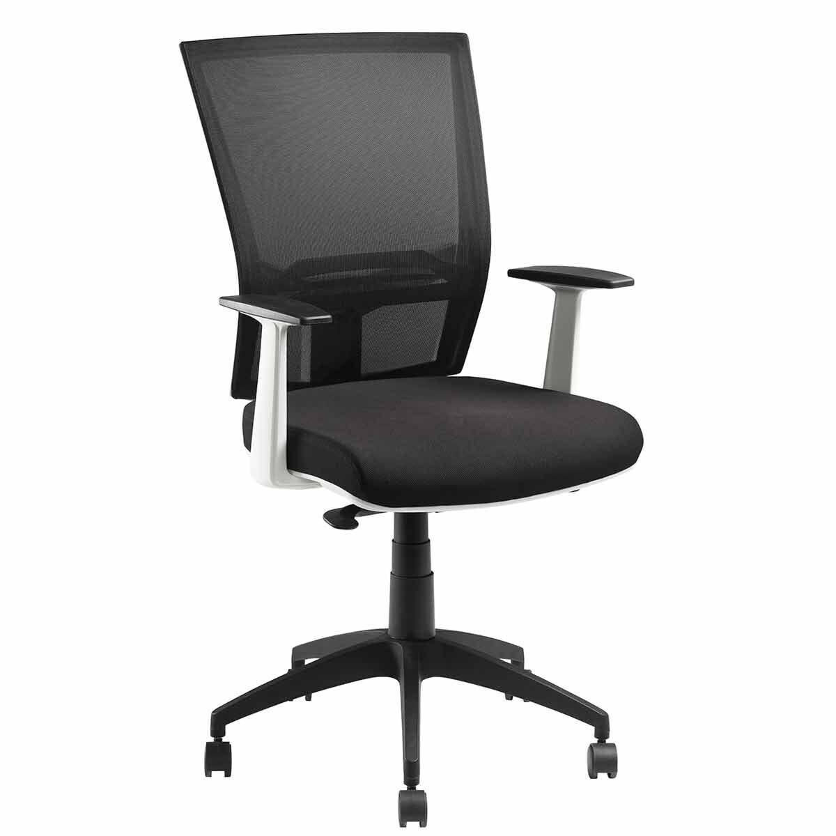 Pago Radar II White Synchro Ergonomic Chair with Arms