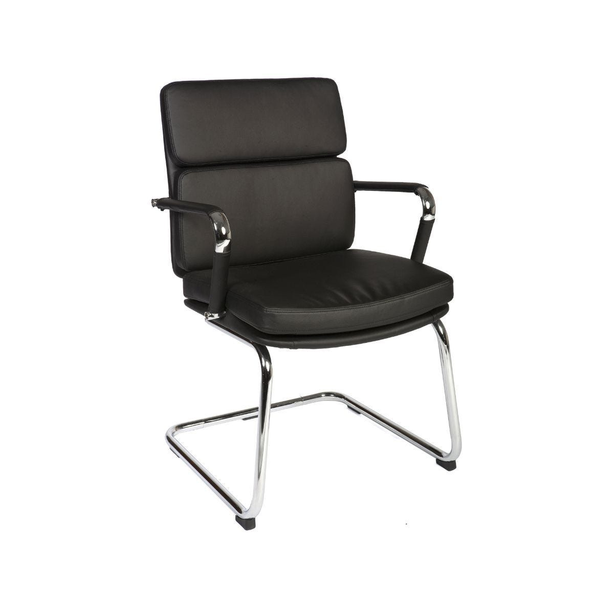 Teknik Office Deco Visitor Retro Style Visitors Chair Black