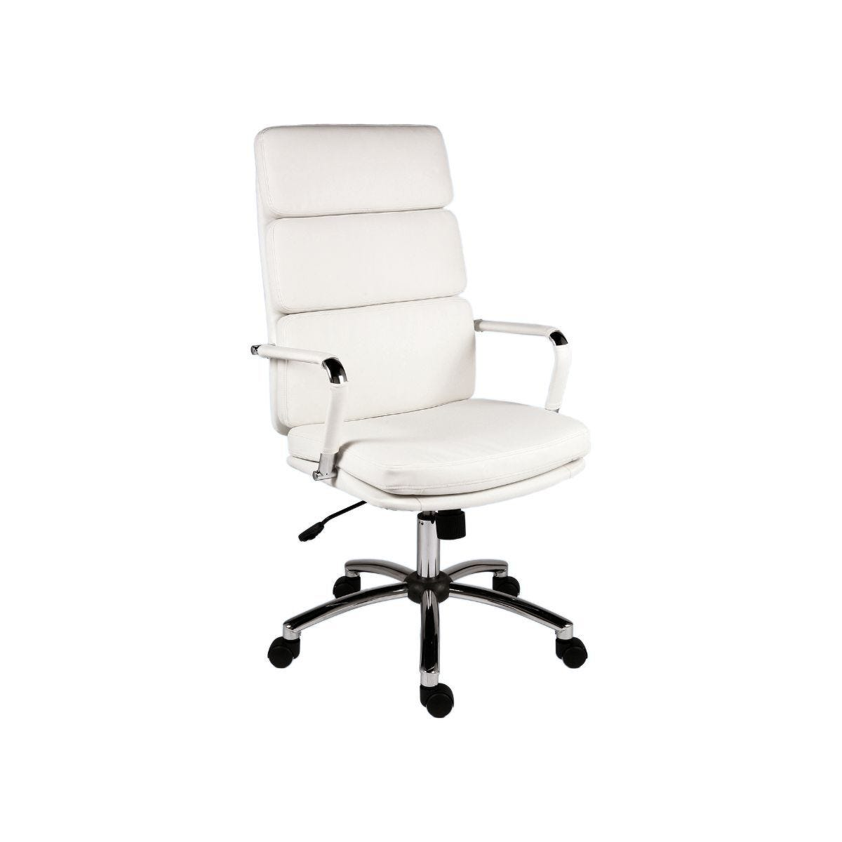 Teknik Office Deco Executive Chair Faux Leather White