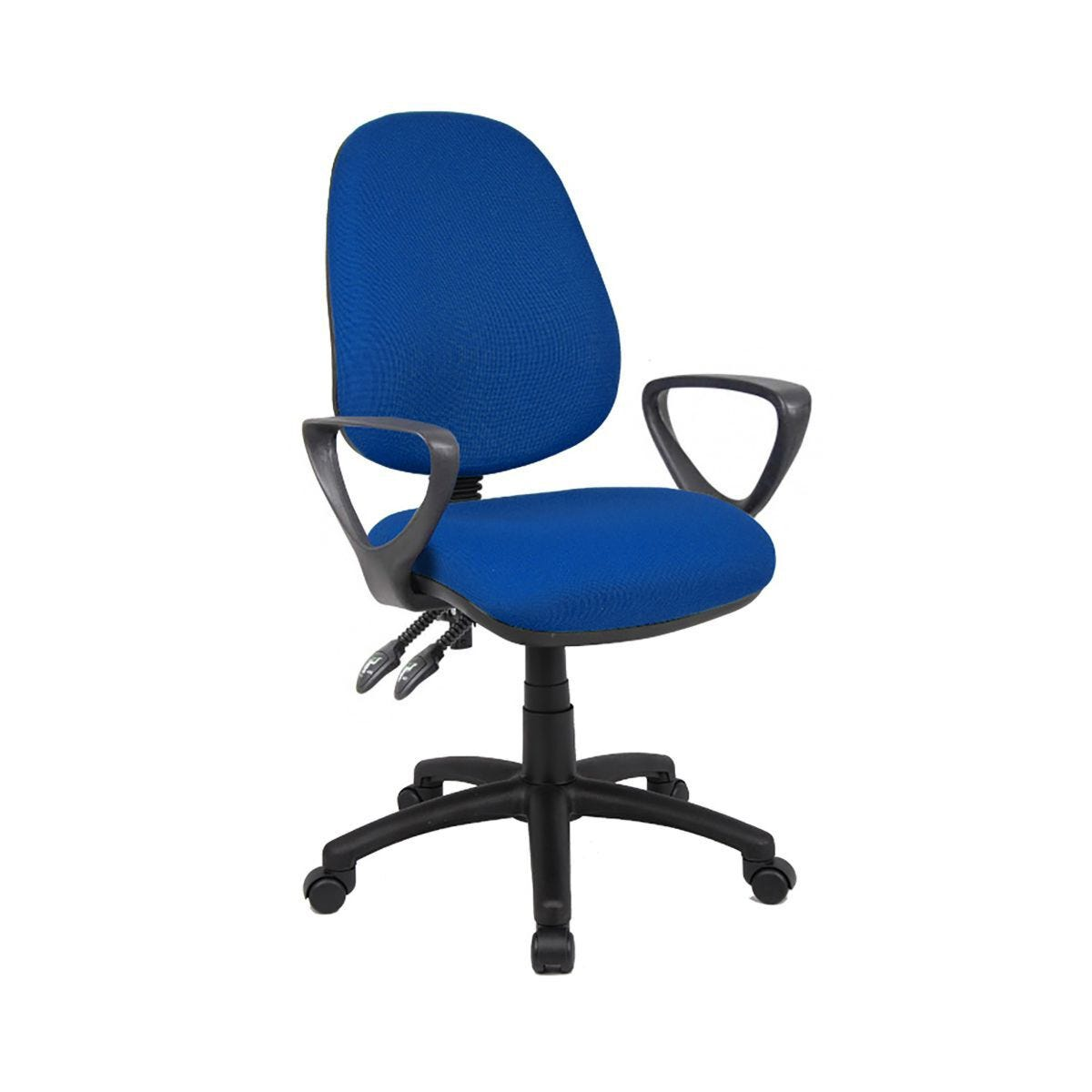 Fabric Operator's Chair With Fixed Arm