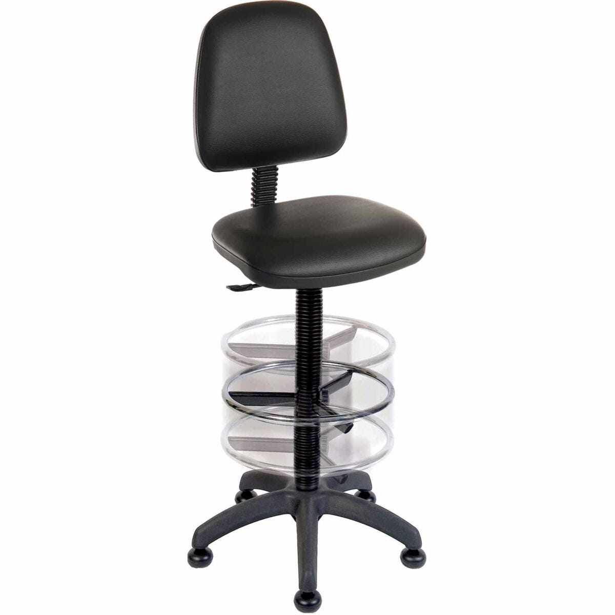 Teknik Office Deluxe Draughter Ergo Blaster Operator Chair Faux Leather