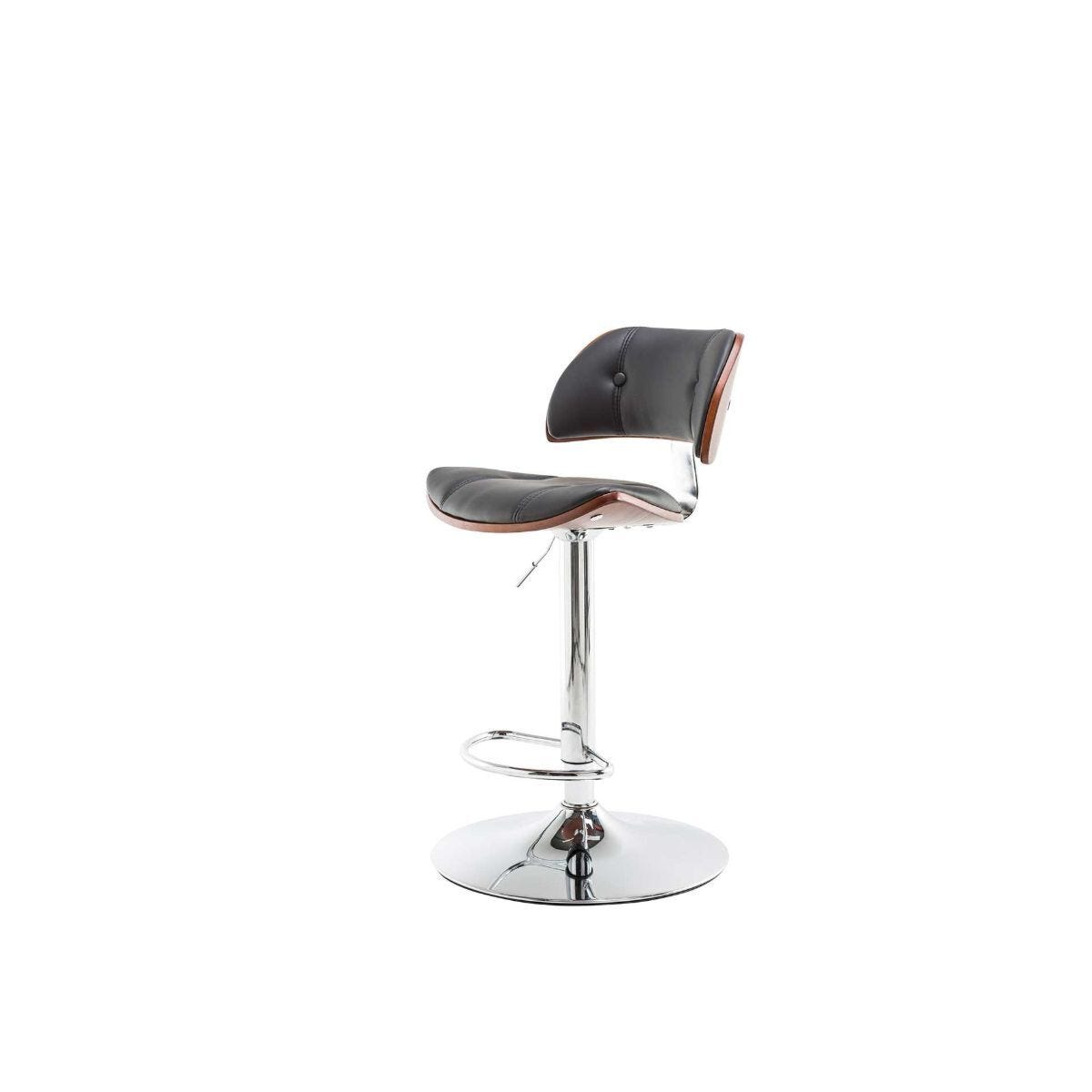 Alphason Victoria Faux Leather and Walnut Barstool
