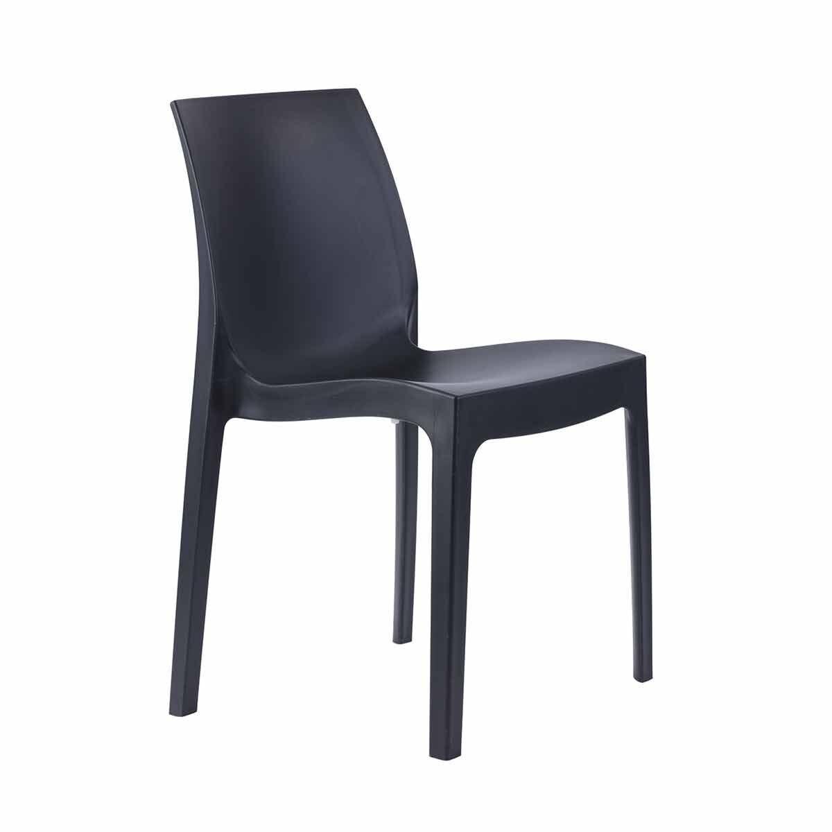 Tabilo Strata Polypropylene Stacking Chair Anthracite
