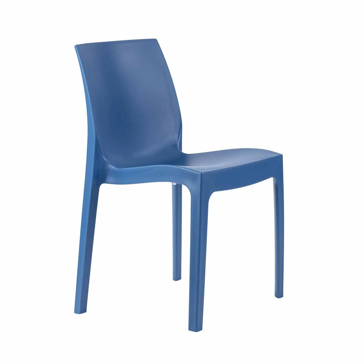 Tabilo Strata Polypropylene Stacking Chair Blue