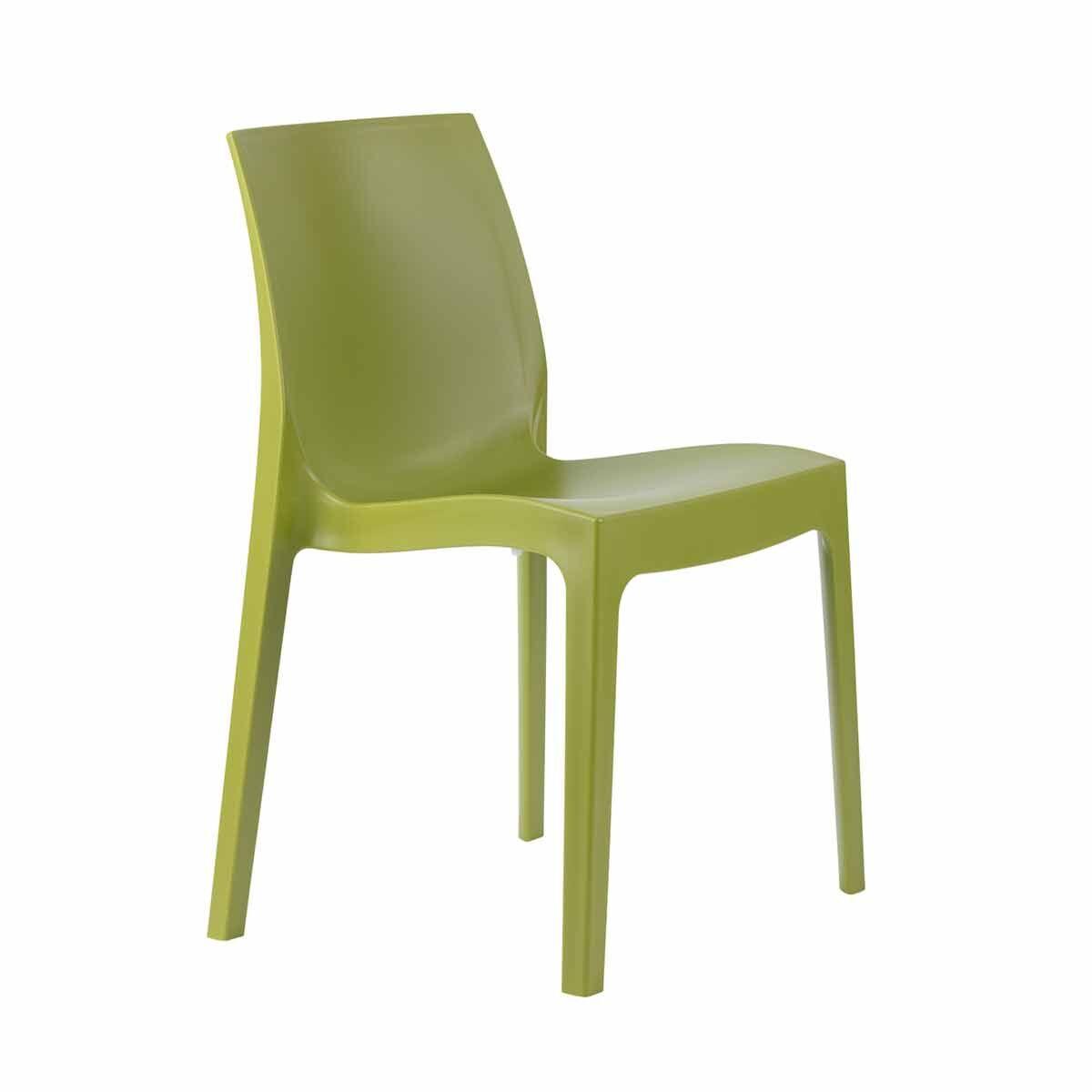 Tabilo Strata Polypropylene Stacking Chair Green