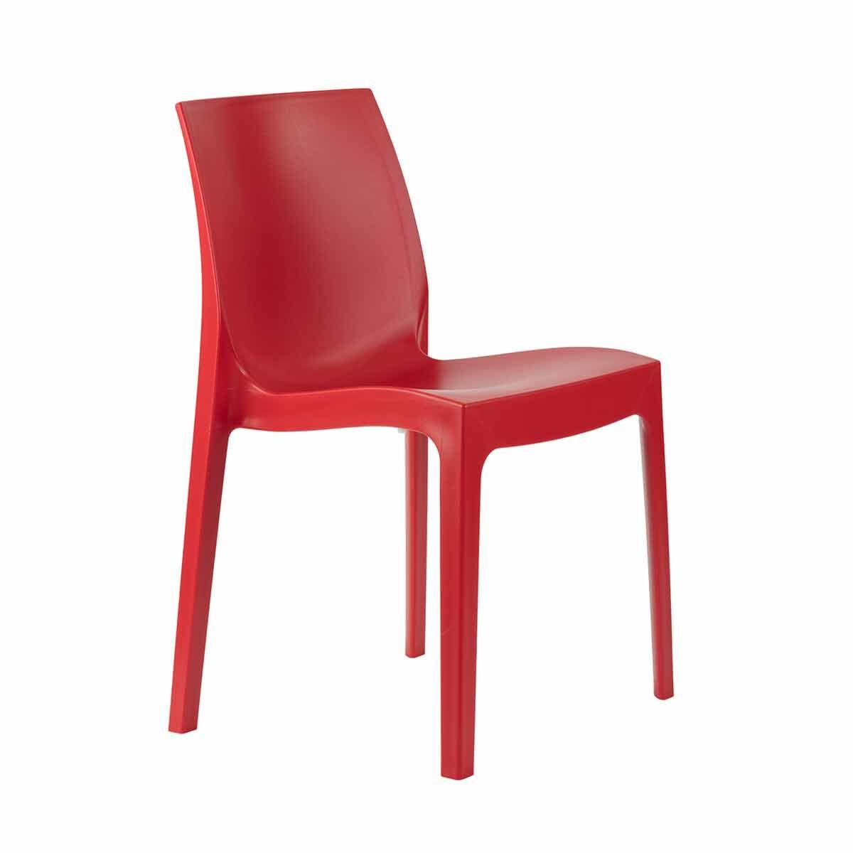 Tabilo Strata Polypropylene Stacking Chair Red
