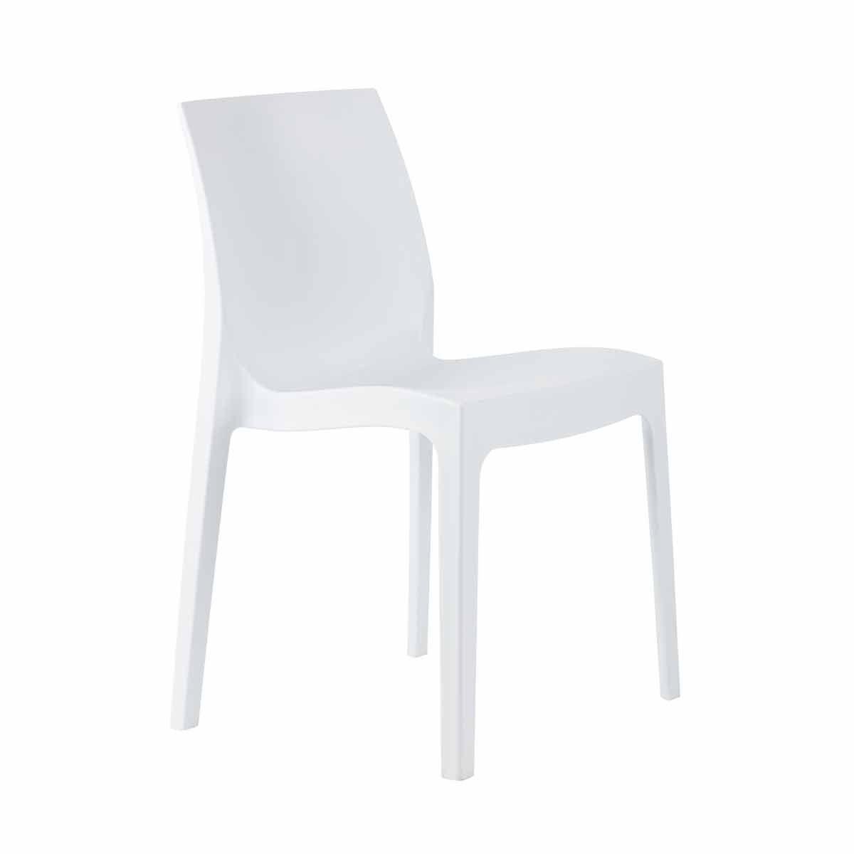 Tabilo Strata Polypropylene Stacking Chair White