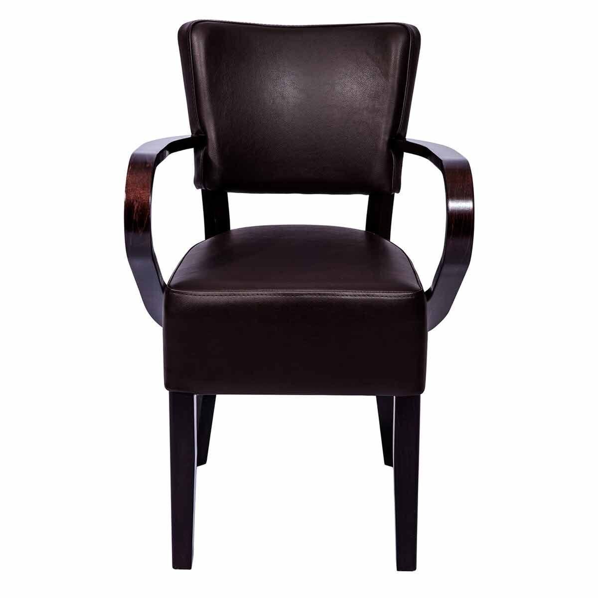 Tabilo Sena Faux Leather Dining Arm Chair Brown