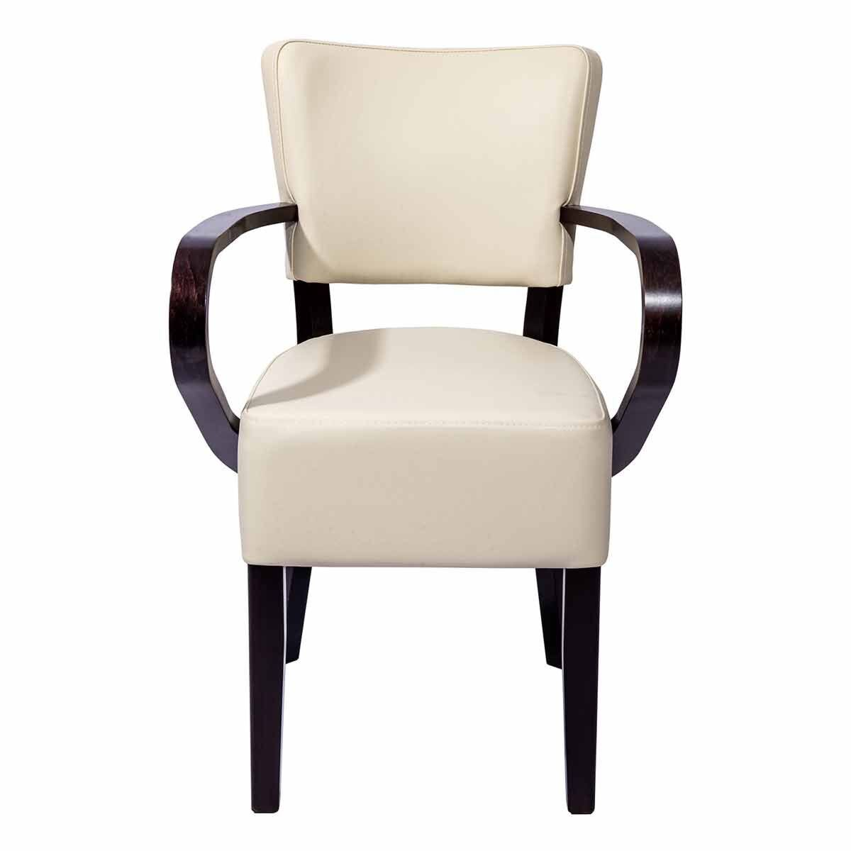 Tabilo Sena Faux Leather Dining Arm Chair Cream