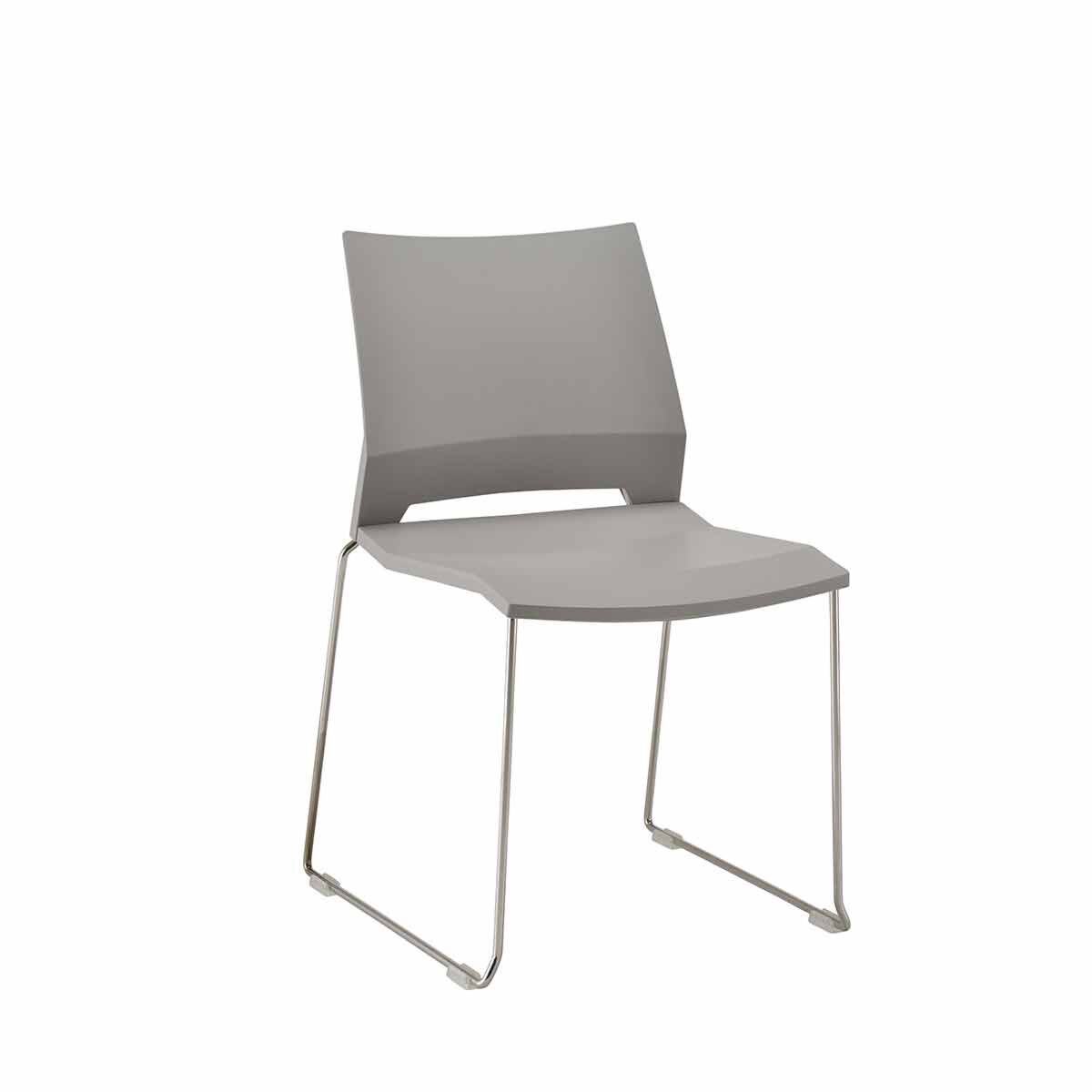 TC Office Rome Skid Side Chair Grey