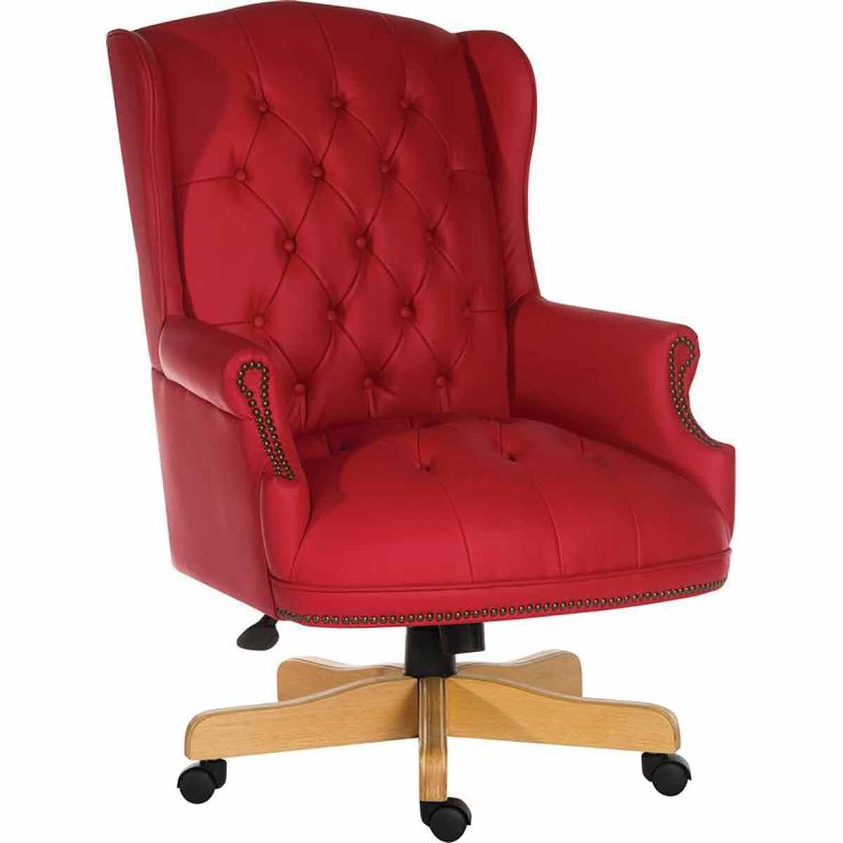 Teknik Office Chairman Swivel Executive Office Chair Red