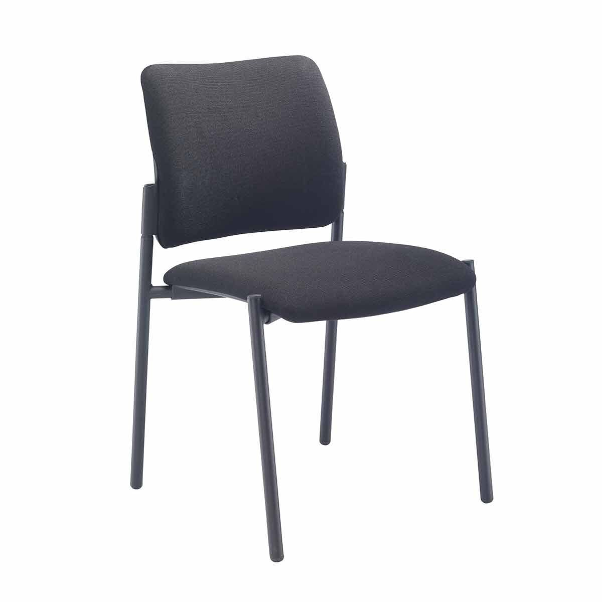 TC Office Florence Fabric Side Chair with Black Frame