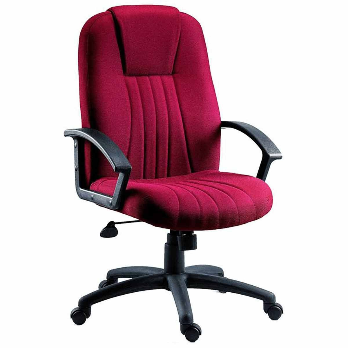 Teknik Office City Fabric Executive Chair Burgundy