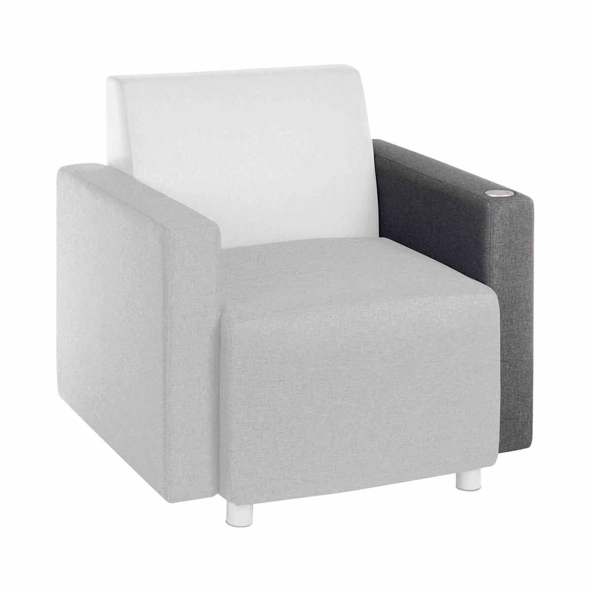 Teknik Office Cube Modular Reception Chair USB Arm Left