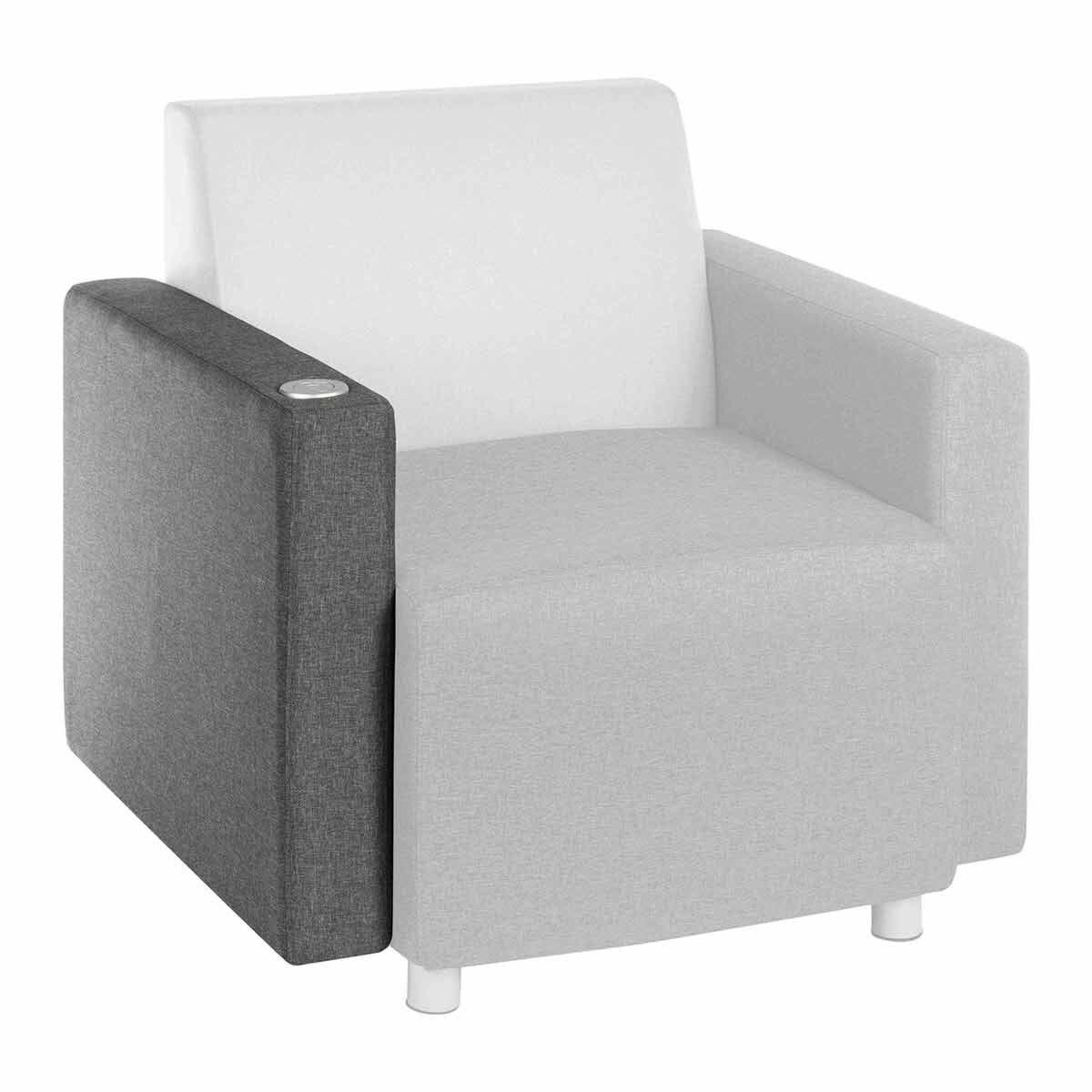 Teknik Office Cube Modular Reception Chair USB Arm Right