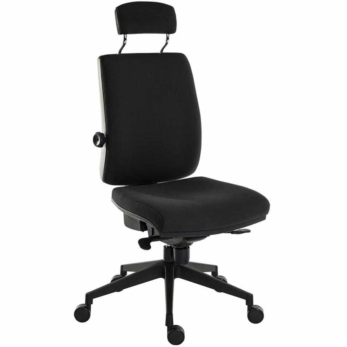 Teknik Office Ergo Plus Ultra Fabric Chair with Headrest Black