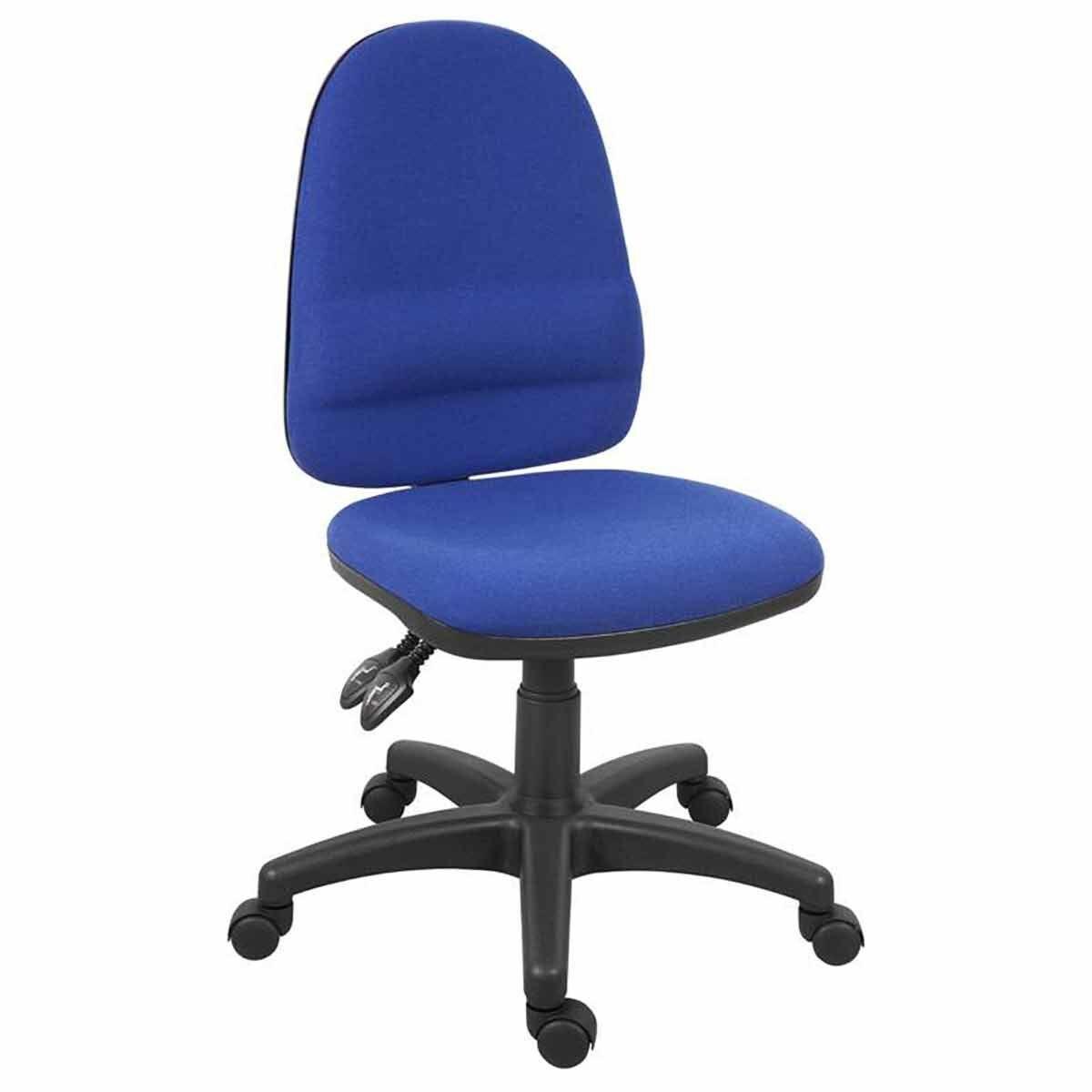 Teknik Office Ergo Twin Fabric Chair Blue