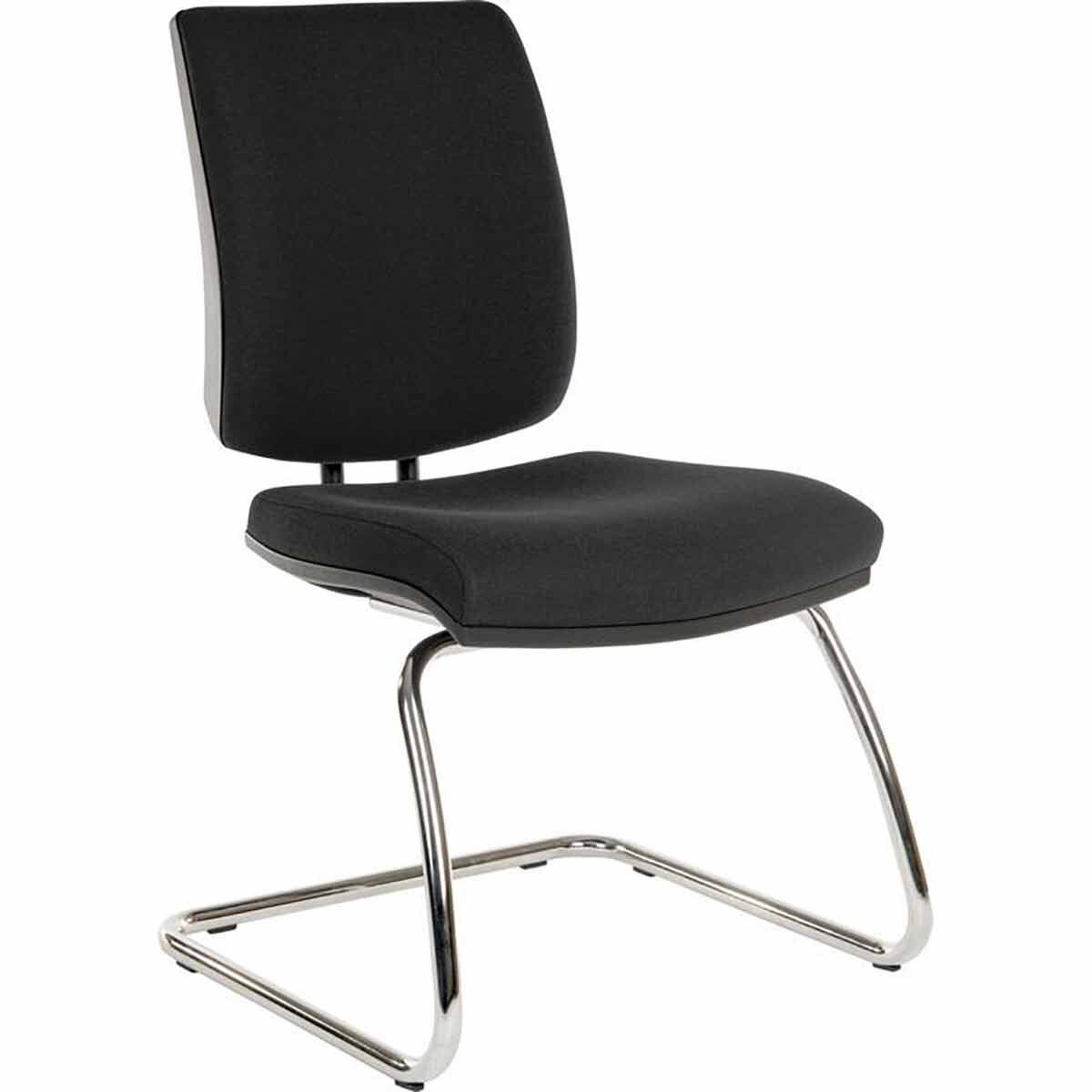 Teknik Office Ergo Deluxe Fabric Visitor Chair Black
