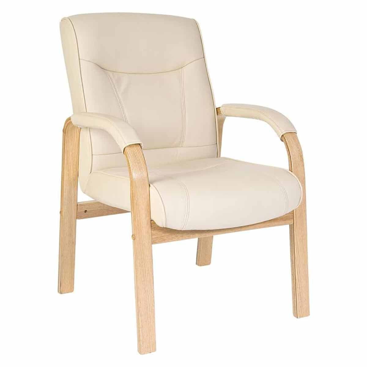 Teknik Office Knightsbridge Bonded Leather Visitor Chair