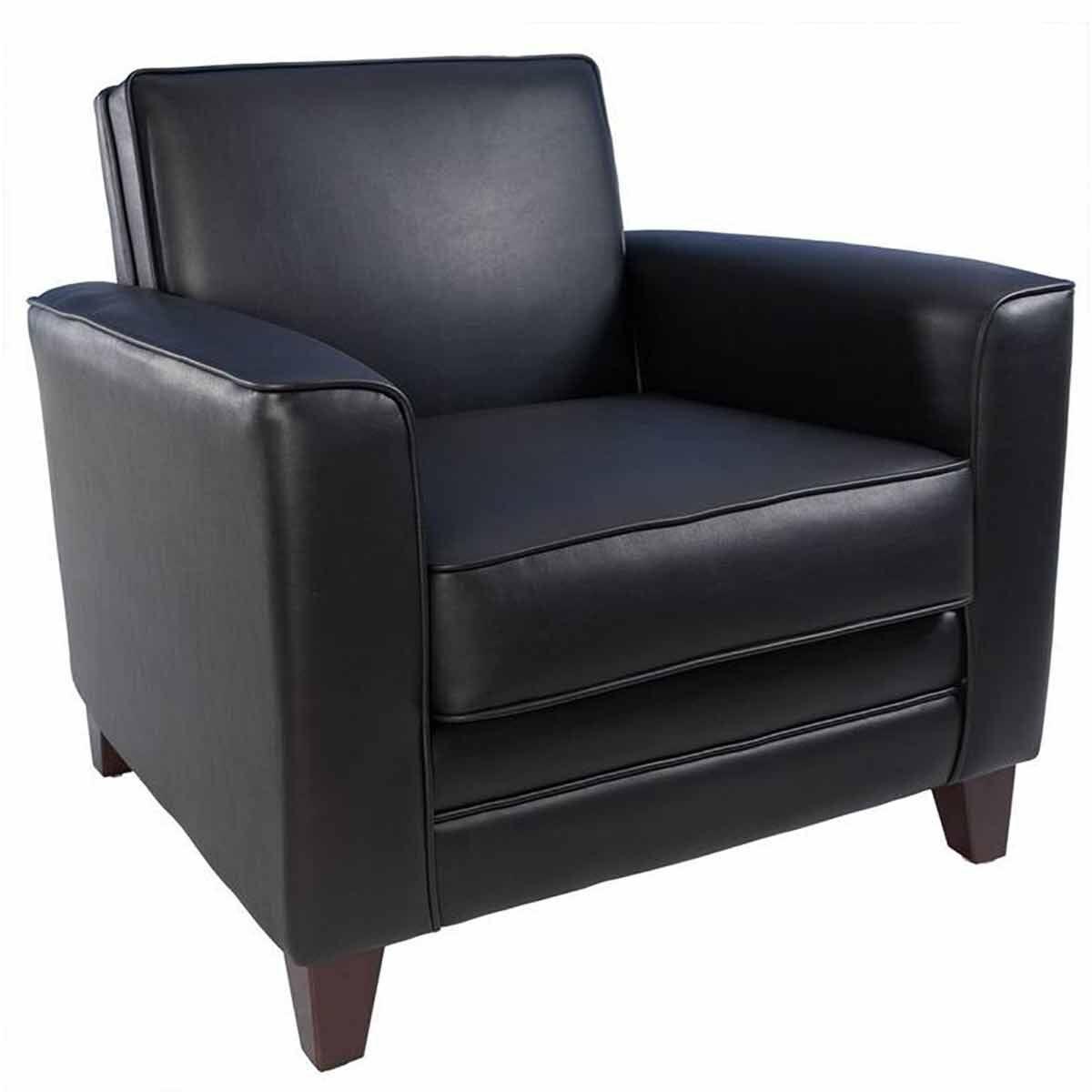 Teknik Office Newport Leather Faced Reception Armchair